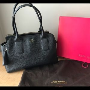 Kate Spade Southport Ave. Lydia Black leather tote